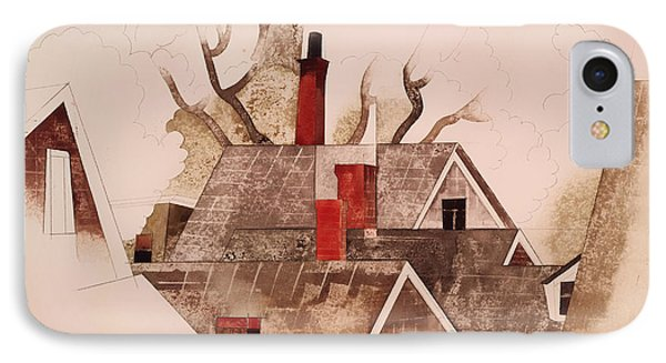 Red Chimneys IPhone Case