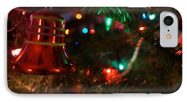 Red Christmas Bell IPhone Case by Kerri Mortenson