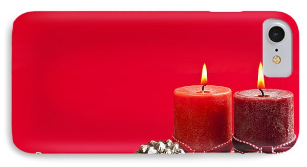 Red Christmas Candles Phone Case by Elena Elisseeva