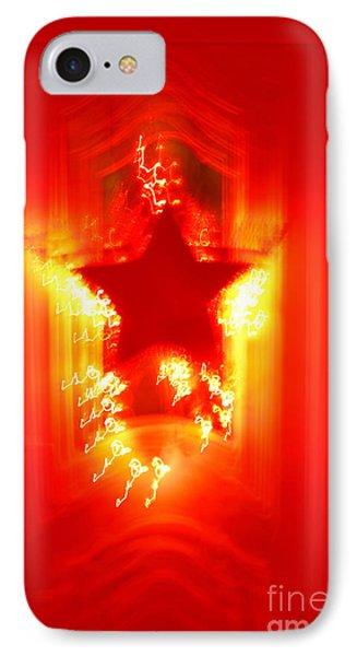 Red Christmas Star Phone Case by Gaspar Avila