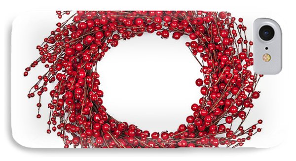 Red Christmas Wreath Phone Case by Elena Elisseeva