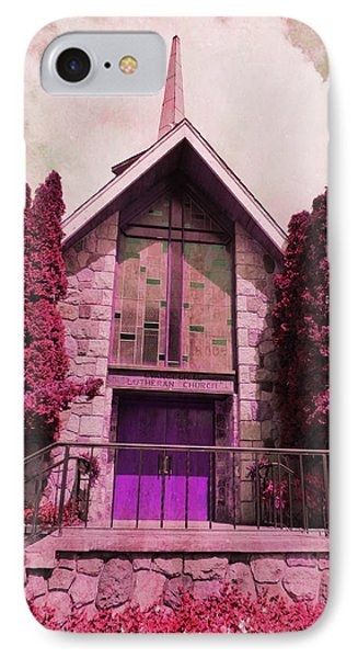 IPhone Case featuring the photograph Red Church by Laurie Tsemak