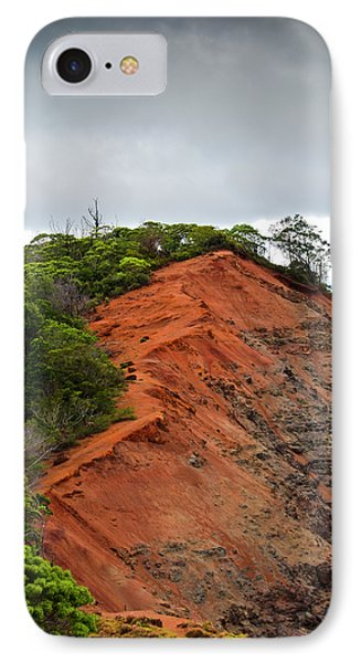 Red Cliff At Waimea Phone Case by Christi Kraft