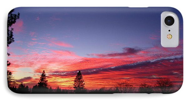 Red Clouds IPhone Case by Tom Mansfield