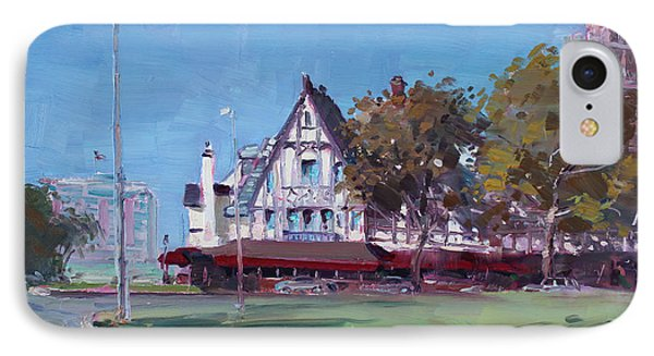 Red Coach Inn Niagara Falls Ny  IPhone Case by Ylli Haruni