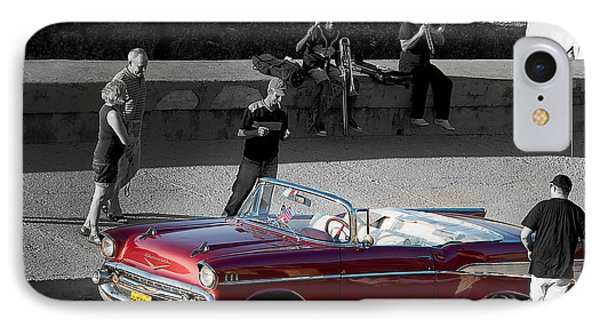 Red Convertible II IPhone Case by Patrick Boening