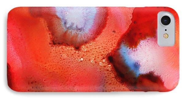 Red Cosmos IPhone Case by Nancy Merkle