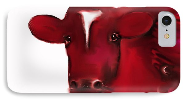 Red Cow IPhone Case