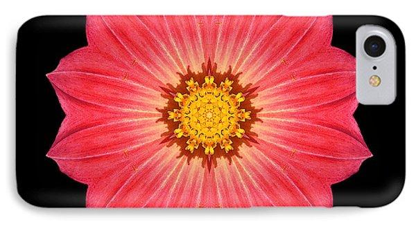 Red Dahlia Hybrid I Flower Mandala IPhone Case