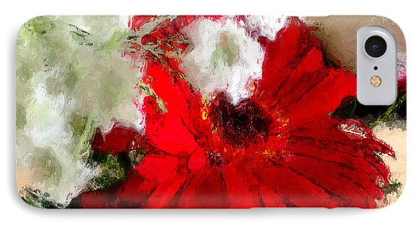 IPhone Case featuring the painting Red Daisy by Robert Smith