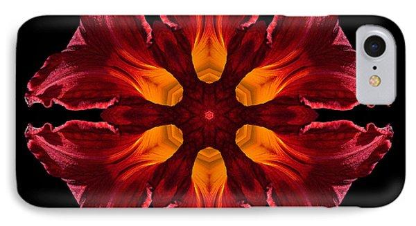 Red Daylily II Flower Mandala IPhone Case