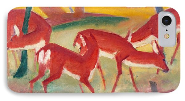 Red Deer 1 Phone Case by Franz Marc