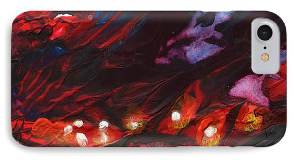 Red Demon With Pearls Phone Case by Miki De Goodaboom