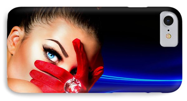 Red Desire IPhone Case by Karen Showell