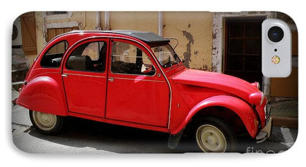 Red Deux Chevaux Phone Case by Lainie Wrightson