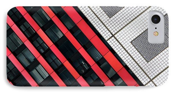 Red Diagonals. IPhone Case