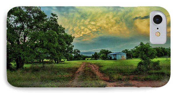 Red Dirt Road IPhone Case by Toni Hopper
