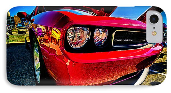 Red Dodge Challenger Vintage Muscle Car IPhone Case