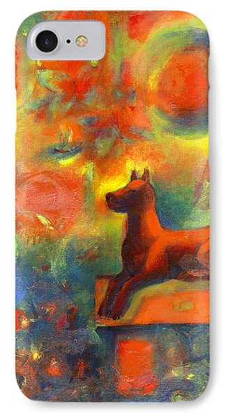 Red Dog In The Garden 2 Phone Case by Nato  Gomes