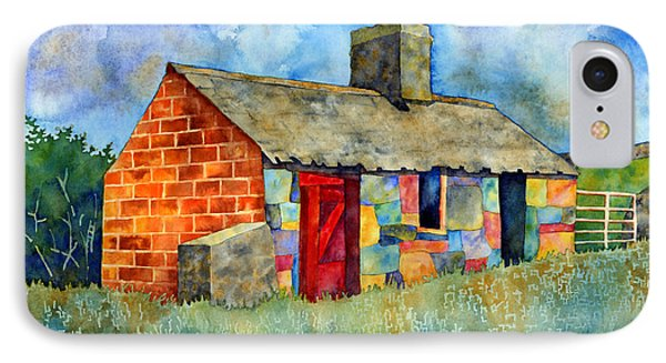 Red Door Cottage IPhone Case by Hailey E Herrera