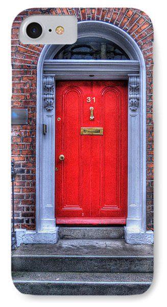 Red Door Dublin Ireland Phone Case by Juli Scalzi