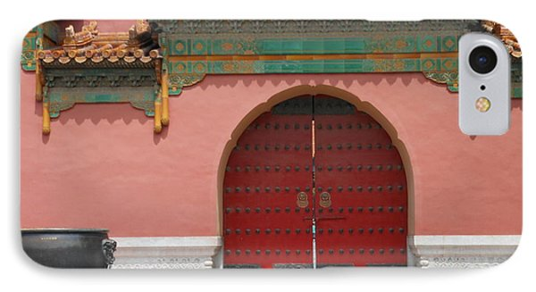 IPhone Case featuring the photograph Red Door In The Forbidden City by Kay Gilley
