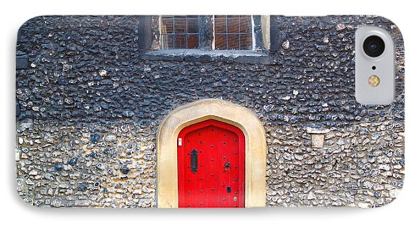 IPhone Case featuring the photograph Red Door In Winchester Uk by Haleh Mahbod