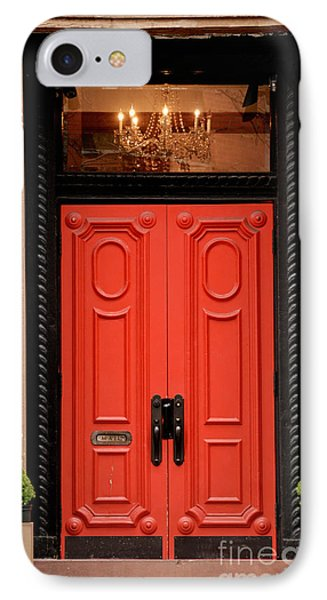Red Door On New York City Brownstone Phone Case by Amy Cicconi
