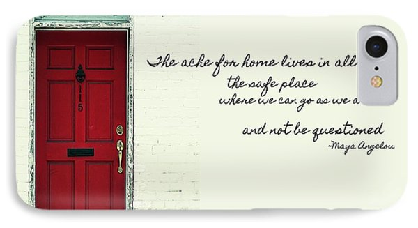 Red Door Quote IPhone Case