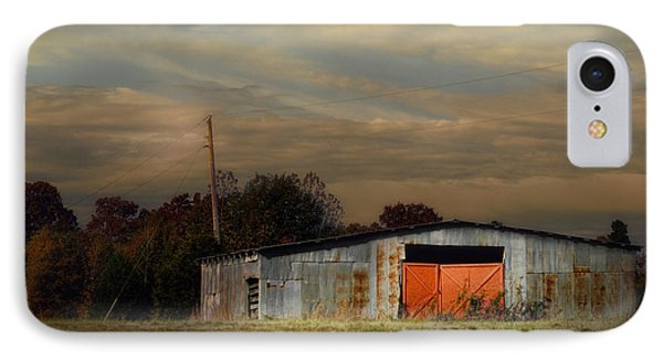 Red Doors - Barn At Sunset IPhone Case by Jai Johnson