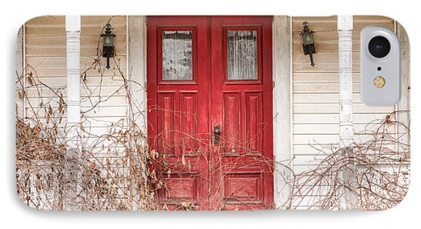 Red Doors - Charming Old Doors On The Abandoned House IPhone Case by Gary Heller