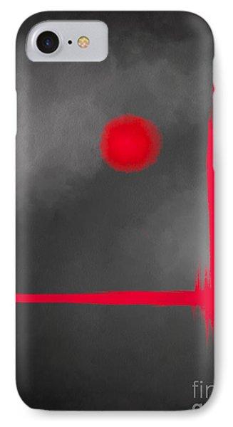 Red Dot IPhone Case by Anita Lewis