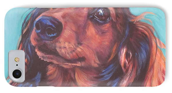 Red Doxie Phone Case by Lee Ann Shepard