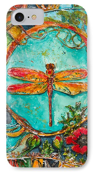 Red Dragonfly IPhone Case by Patricia Allingham Carlson