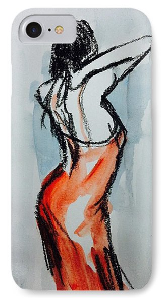 Red Dress IPhone Case