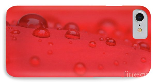Red Drops IPhone Case by Karol Livote