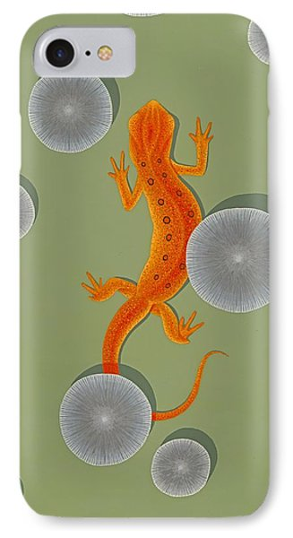 Red Eft Newt IPhone 7 Case by Nathan Marcy