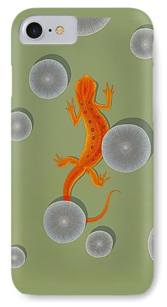 Red Eft Newt IPhone Case by Nathan Marcy