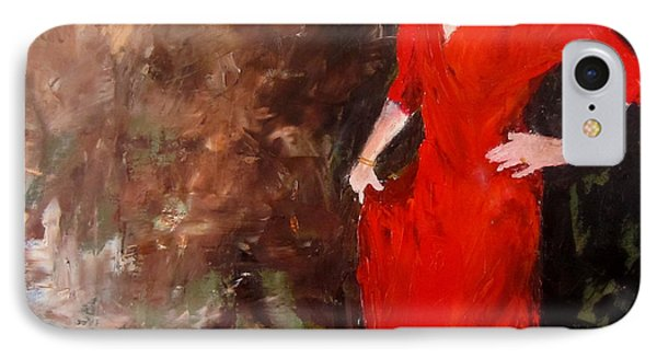 IPhone Case featuring the painting Red Ellegance by Keith Thue
