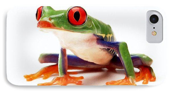 Red-eye Tree Frog 1 Phone Case by Lanjee Chee