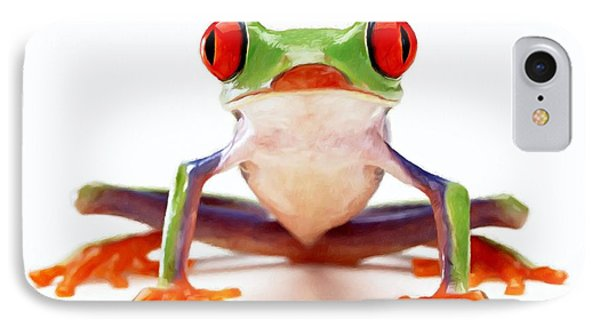 Red-eye Tree Frog 2 Phone Case by Lanjee Chee