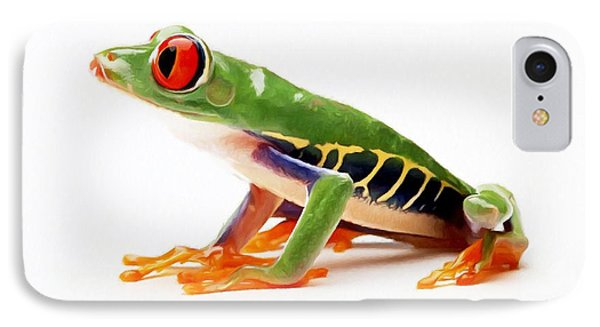 Red-eye Tree Frog 4 Phone Case by Lanjee Chee