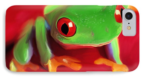 Red Eye Tree Frog IPhone Case
