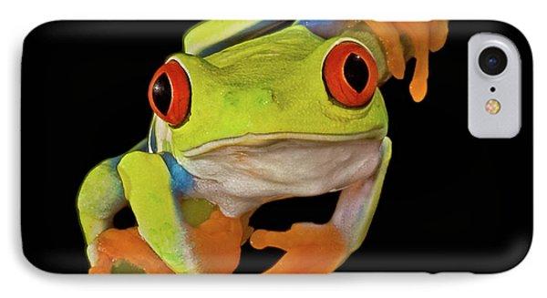 Red Eye Tree Frog Phone Case by Susan Candelario