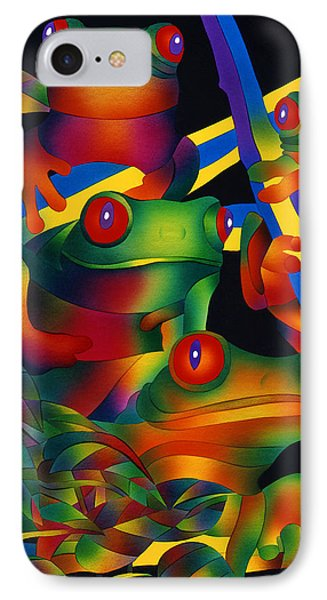 Red Eyed Frogs IPhone Case by Julianne  Ososke