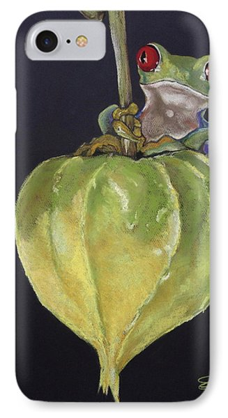 Red-eyed Tree Frog On Seed Pod IPhone Case