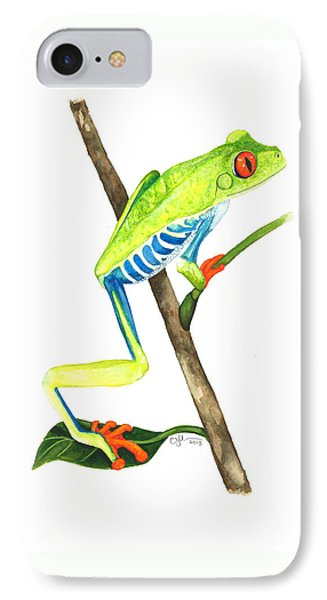 Red-eyed Treefrog From La Selva IPhone Case by Cindy Hitchcock