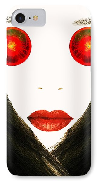 Red Eyes Phone Case by Bruce Iorio