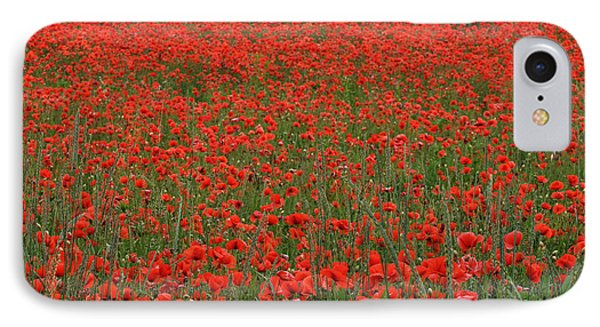 Red Field IPhone Case by Simona Ghidini