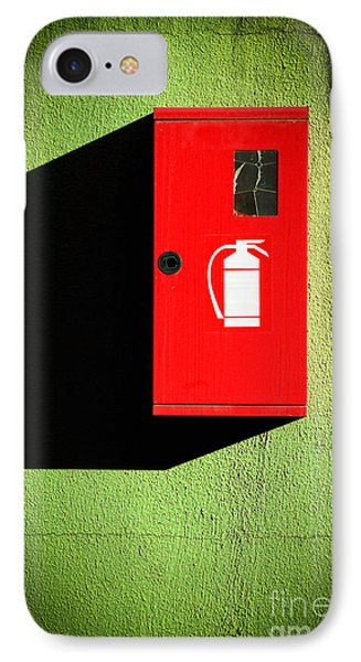 Red Fire Extinguisher Box IPhone Case